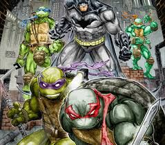 Batman and The Ninja Turtles. A shed load of awesome!
