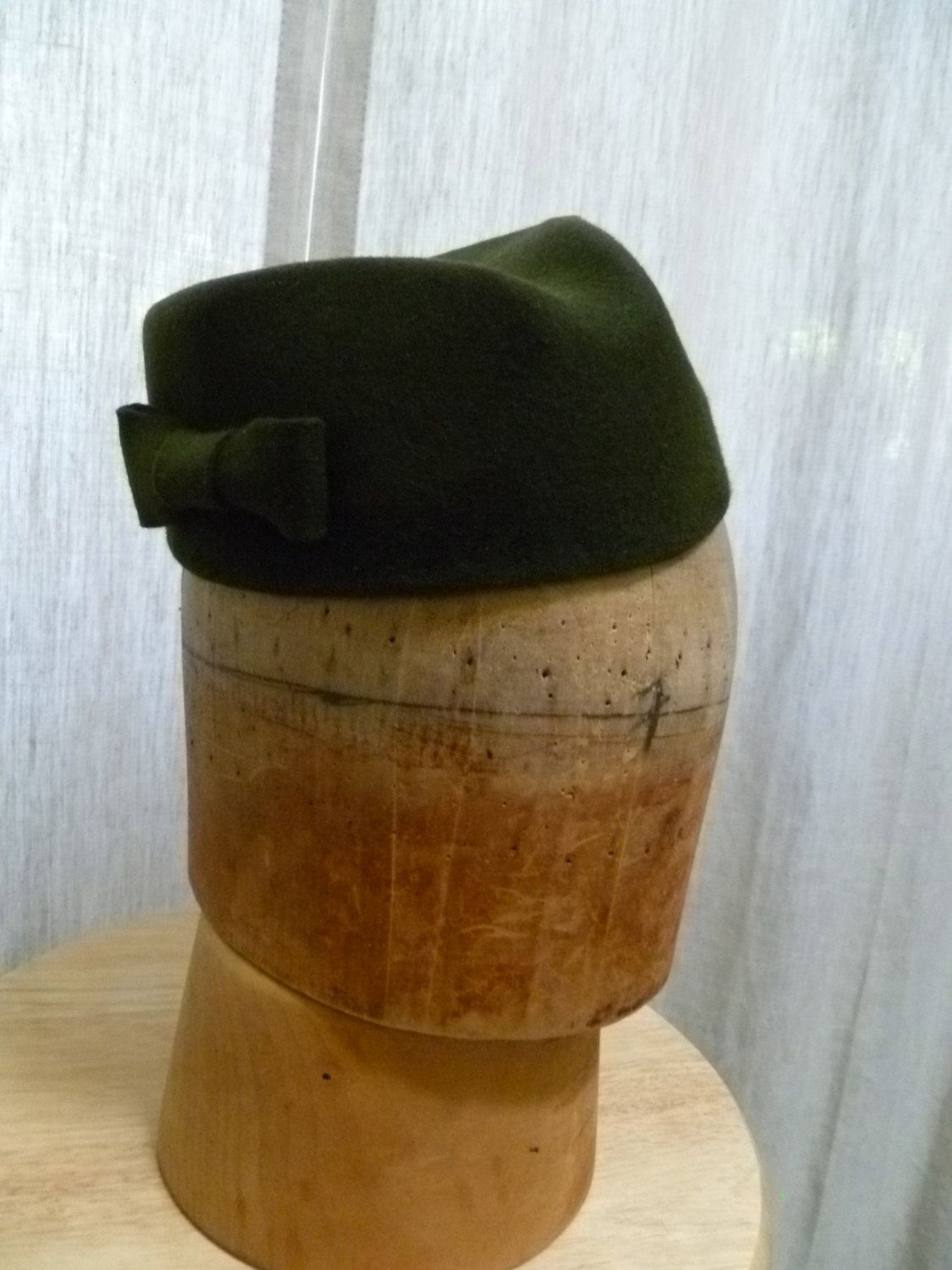 e82bc4c35 Hand Blocked Olive Green Brimless Fedora Military Style Hat. | Art ...