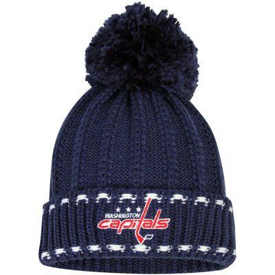 429ac59e66f Reebok Washington Capitals Women s Navy Cuffed Pom Knit Hat