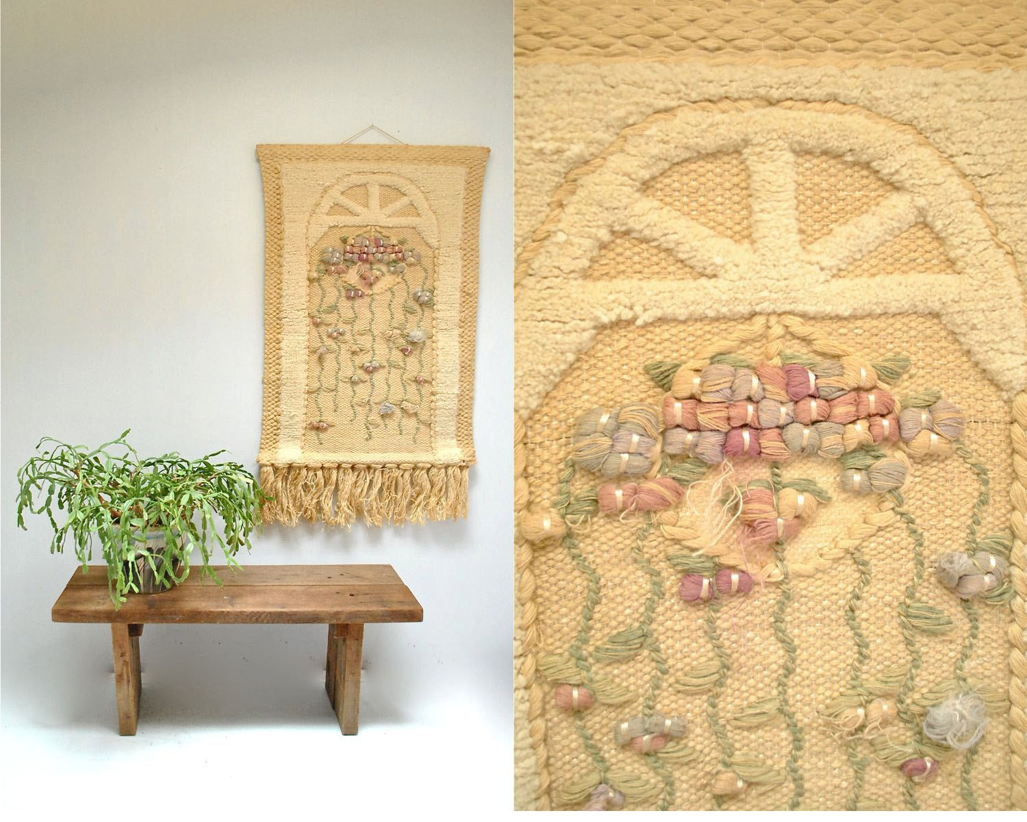 Woven Wall Hanging // Textile Fiber Art // THE WINDOW by ...