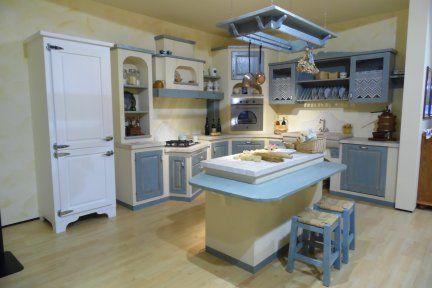 Cucina Carlini modello Margherita castagno massello spazzolato con ...
