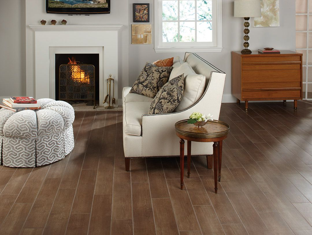 Image courtesy of DalTile Terrace Wood Plank Tile