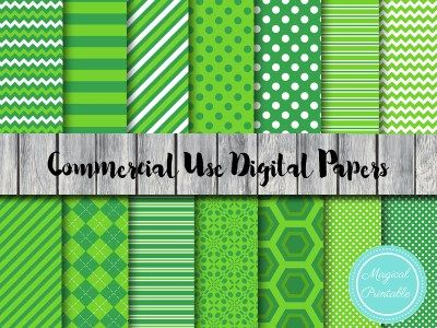 St Patricks Day digital papers, irish digital papers dp137