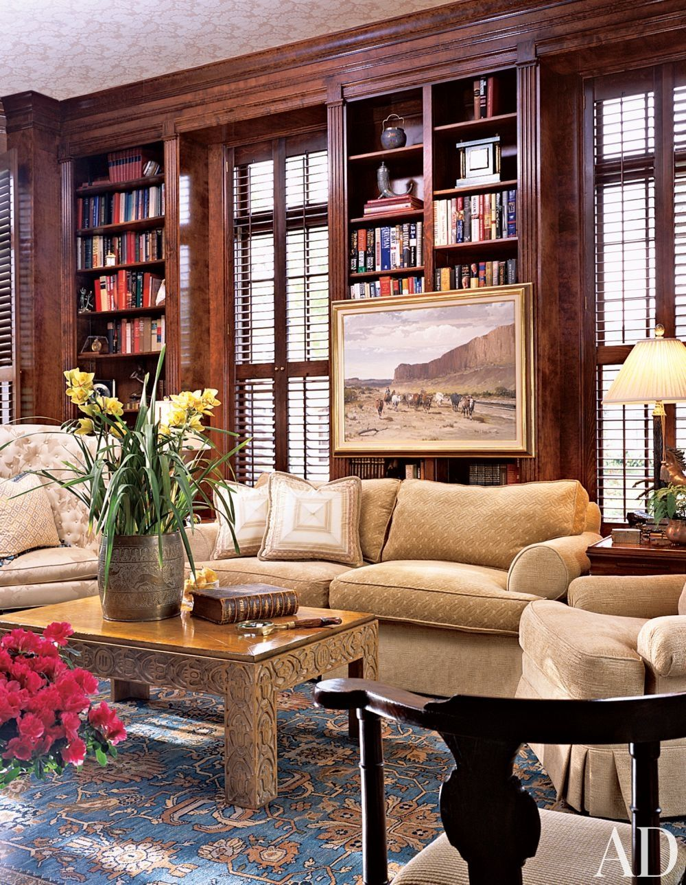 Interior Design Library Room: Traditional Office/Library By William W. Stubbs In Houston