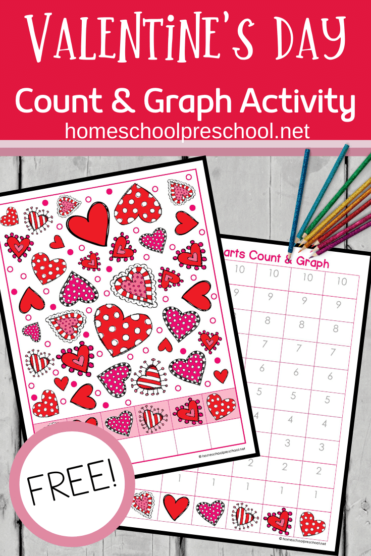 Valentine Count And Graph Worksheets In 2020 Valentines Day Activities Valentine Counting Popsicle Stick Crafts House [ 1102 x 735 Pixel ]