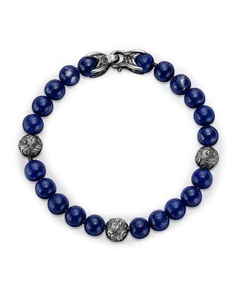 7554fd8feea96 Spiritual Beads Bracelet with Lapis Lazuli by David Yurman at Neiman ...