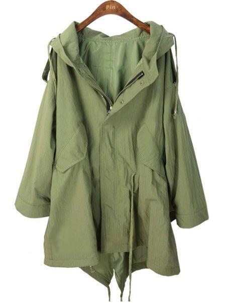 39b7b1bbef574 i love army green coats. never gets old. | Coats | Fashion, Coat, Style