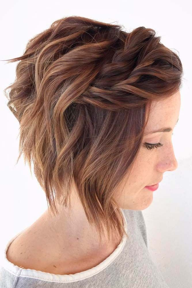 30 Pretty Prom Hairstyles For Short Hair Lovehairstyles Com Short Wavy Hair Hair Styles Short Hair Styles