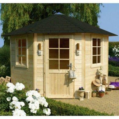 Kiosque De Jardin Nancy 1 Gloriette Solid Avec Plancher Et Shingle Noir Abri De Jardin Abri De Jardin Bois Kiosque Jardin