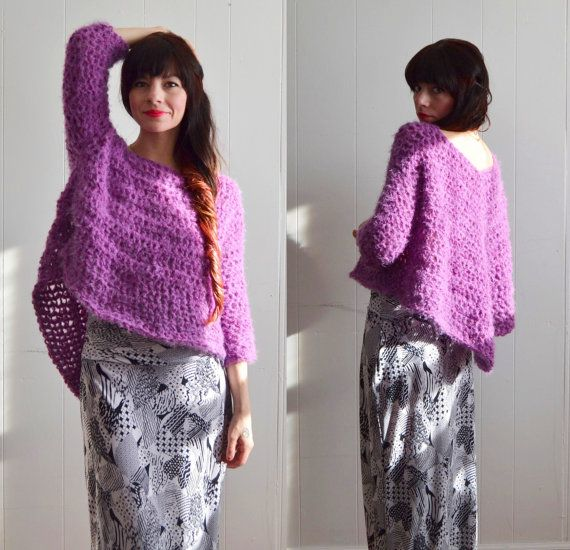 Swallowtail Sweater /  chunky knit sweater for women  / made to order in your size and color of choice / Spring Rainbow Ombre color