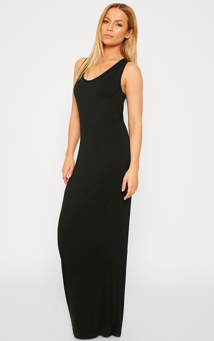 Black black t shirt maxi dress - Black Backless Maxi Dress Backlees Maxi Dress Pinterest Maxis Jersey And Shop By