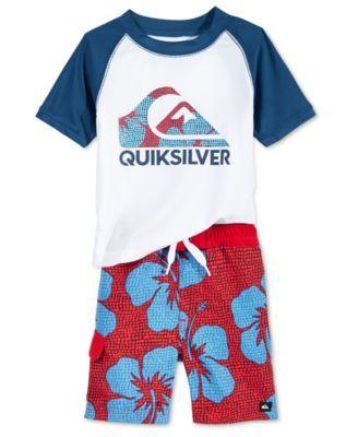 8f03b984b4 Quiksilver Baby Boys' 2-Piece Swim Set - Swimwear - Kids & Baby - Macy's