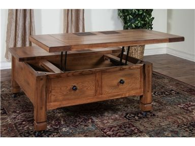 Shop For Sunny Designs Sedona Square Coffee Table With Lift Top 3143ro Sl Furniture Nebraska Furniture Mart Furniture Shop
