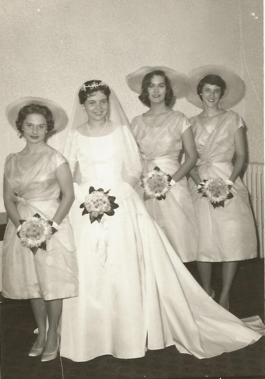 1960 wedding dresses  Lot  Vintage Old Wedding Photos Bride Groom Bridesmaids Dresses