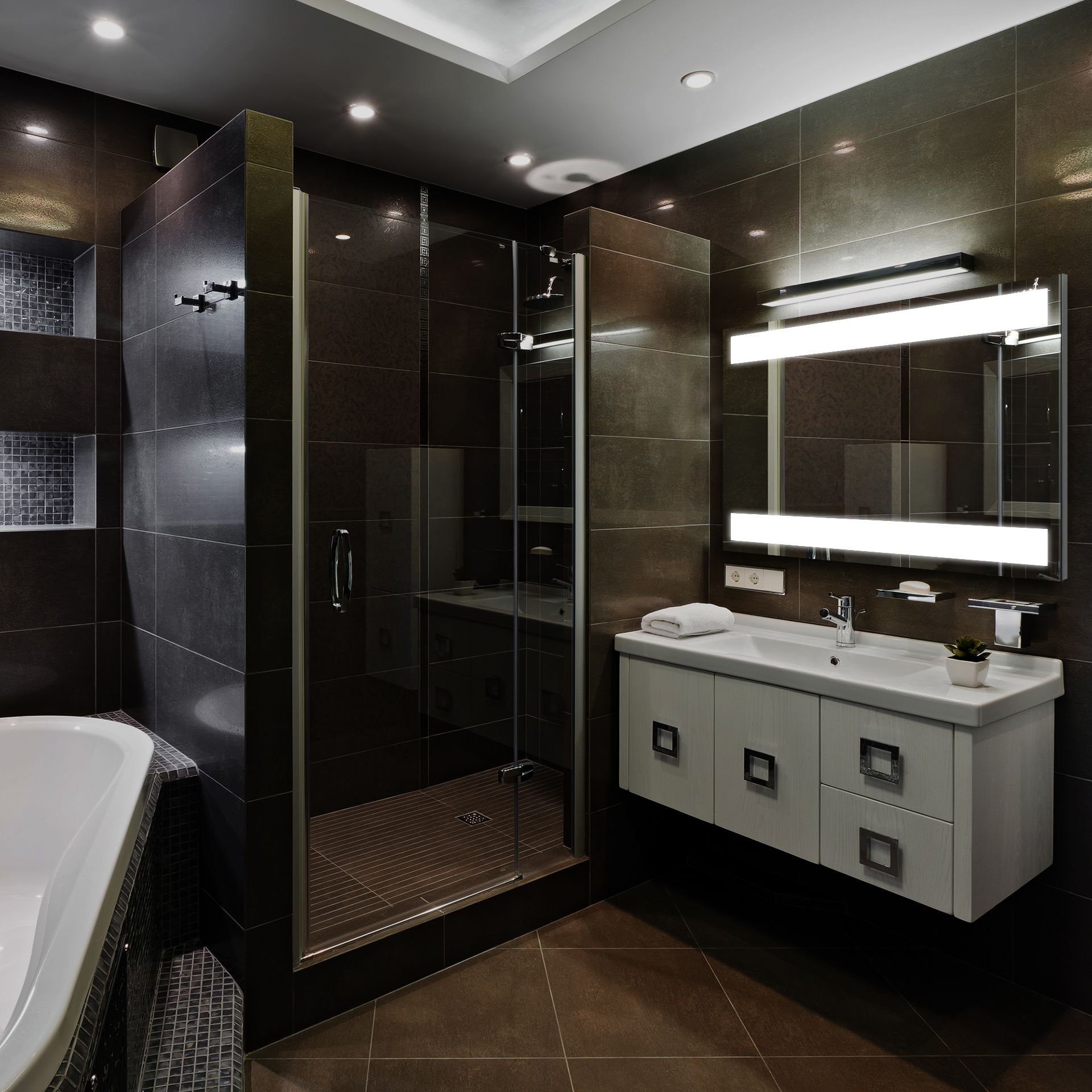 Moderno LED Lighted Mirror for Bathroom.