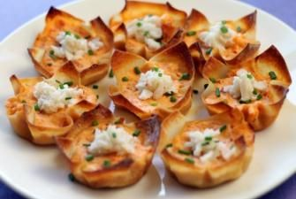 Roasted Red Pepper Crab Cups Recipe | RECIPE CORNER