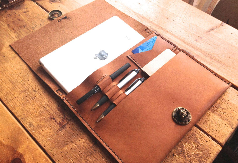 iPad clutch bag leather tablet clutch purse minimalist