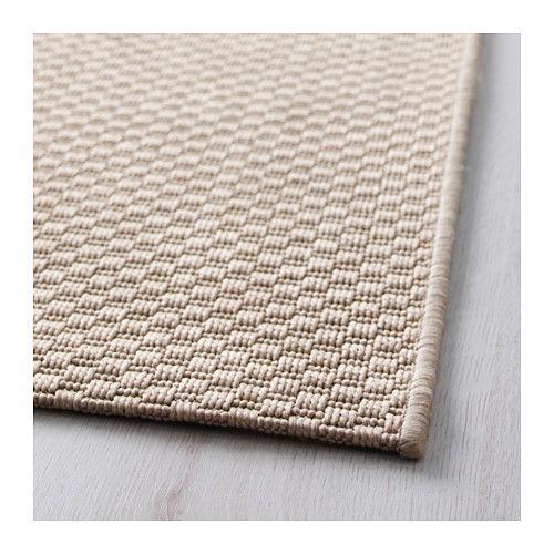 MORUM Koberec, hladko tkaný - na von/dnu béžová, 80x200 cm - IKEA