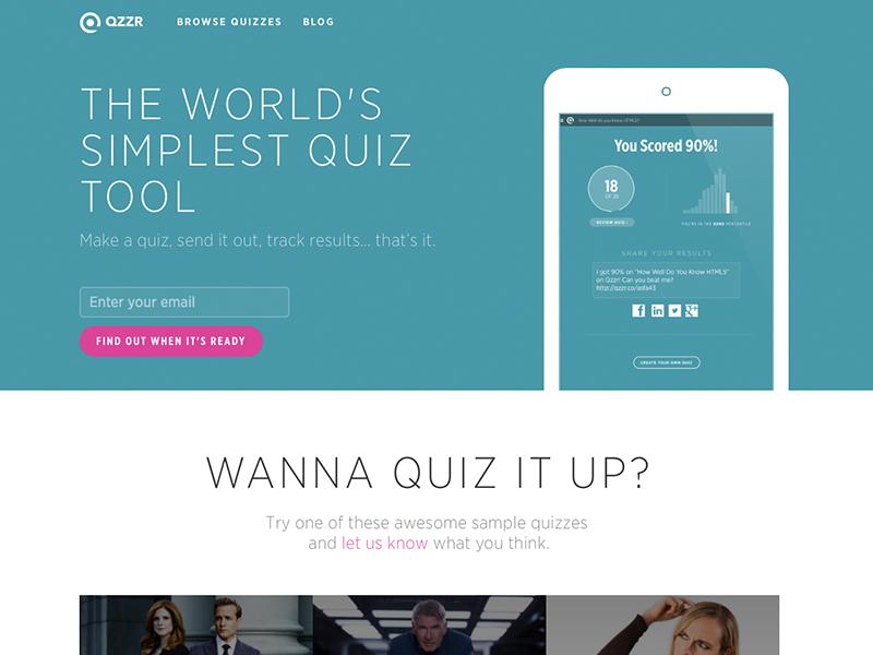 Qzzr Homepage Homepage Design Homepage Web Design
