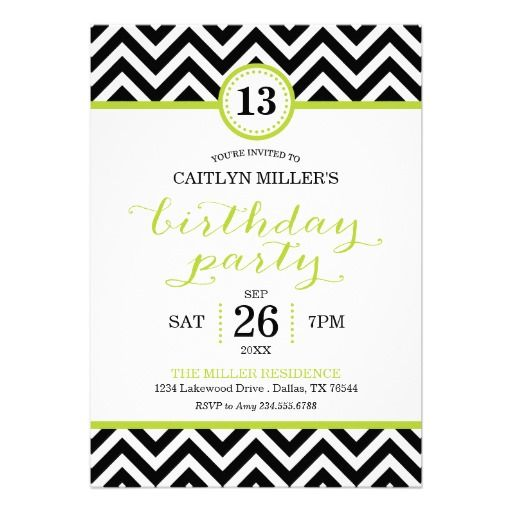 Trendy zigzag chevron birthday party invitation chevron birthday trendy zigzag chevron birthday party invitation stopboris Choice Image