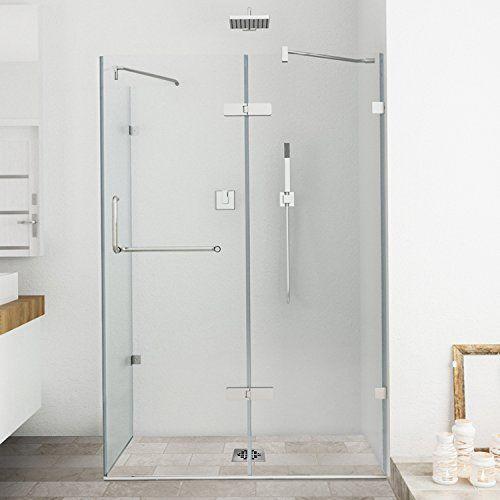 Vigo Monteray 32 X 48 In Frameless Shower Enclosure With Frameless Shower Enclosures Shower Enclosure Frameless Shower