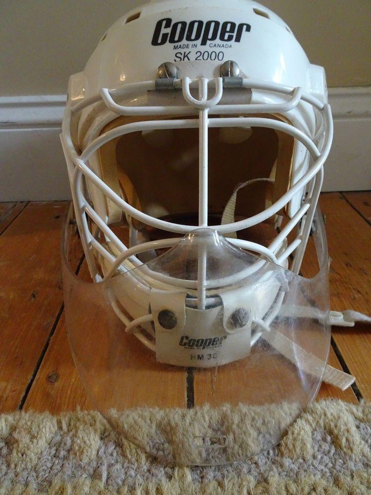Cooper Sk2000 Hm30 Goalie Mask Hockey Helmet Cat Eye Cage Gtp Neck