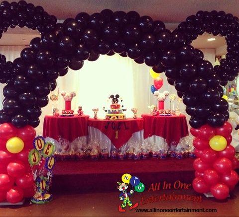 Decoracion De Fiesta Infantil De Mickey Mouse Bebe Buscar Con Google Minnie Mouse Birthday Party Mickey Mouse Theme Party Mickey Mouse Balloons