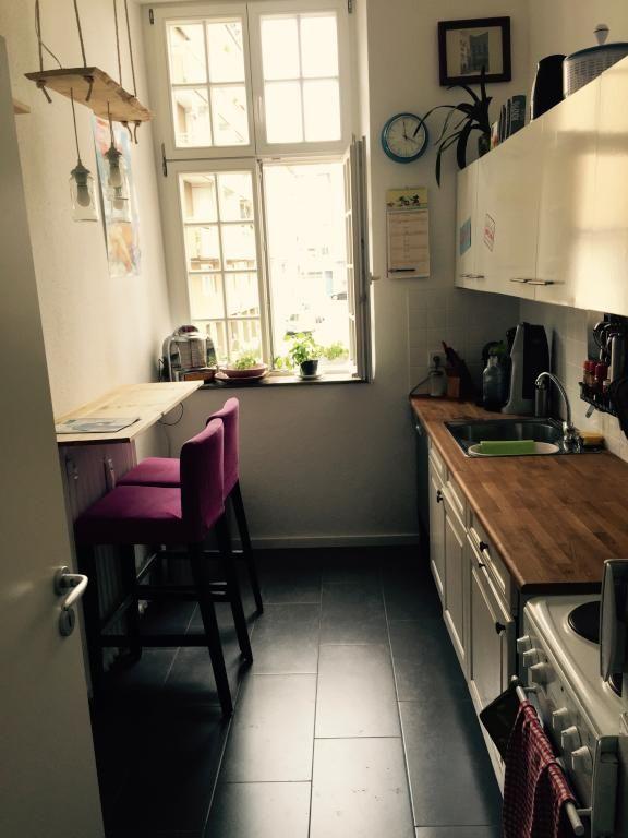 Gemütliche renovierte Altbauküche mit stylischer DIY-Lampe. #Küche ...