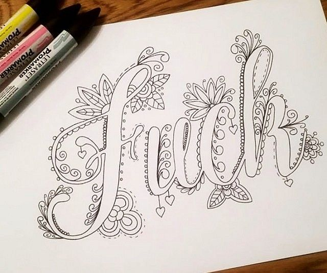 Swear Words Coloring Book Coloring books Hand drawn and Creativity