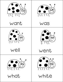 Grades Pre-K - 3. Help your students learn their sight words with these cute flash cards! Print on colored card stock and laminate for a reusable resource. The Vivacious Teacher