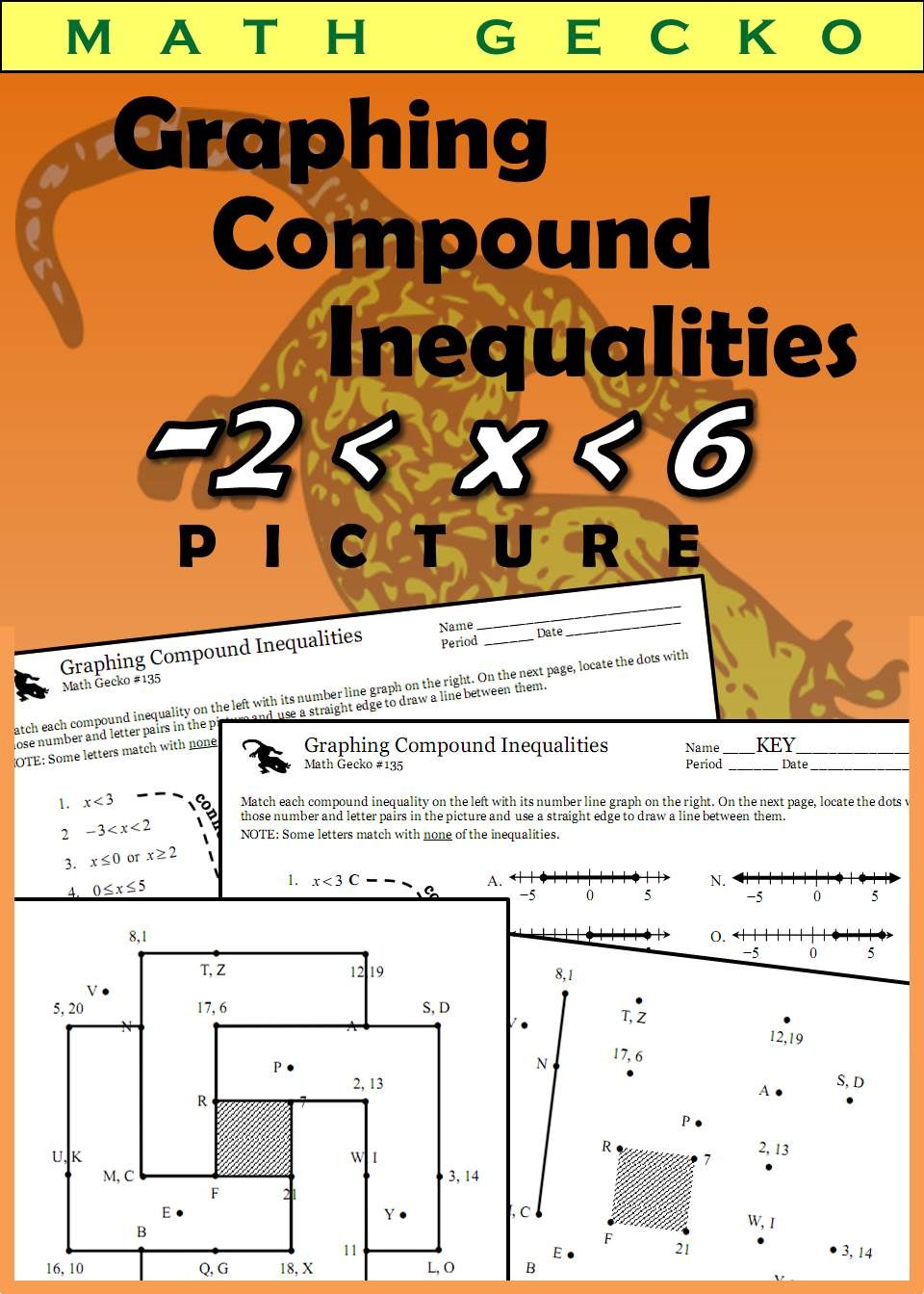 Students Match Compound Inequalities With Number Line Graphs To Draw A Clever Geometric Design Inequalities U Compound Inequalities Inequality Math Resources [ 1344 x 960 Pixel ]