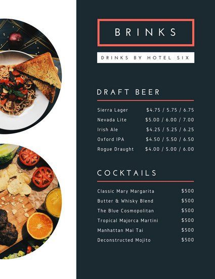 Black Modern Catering Menu | Design | Pinterest