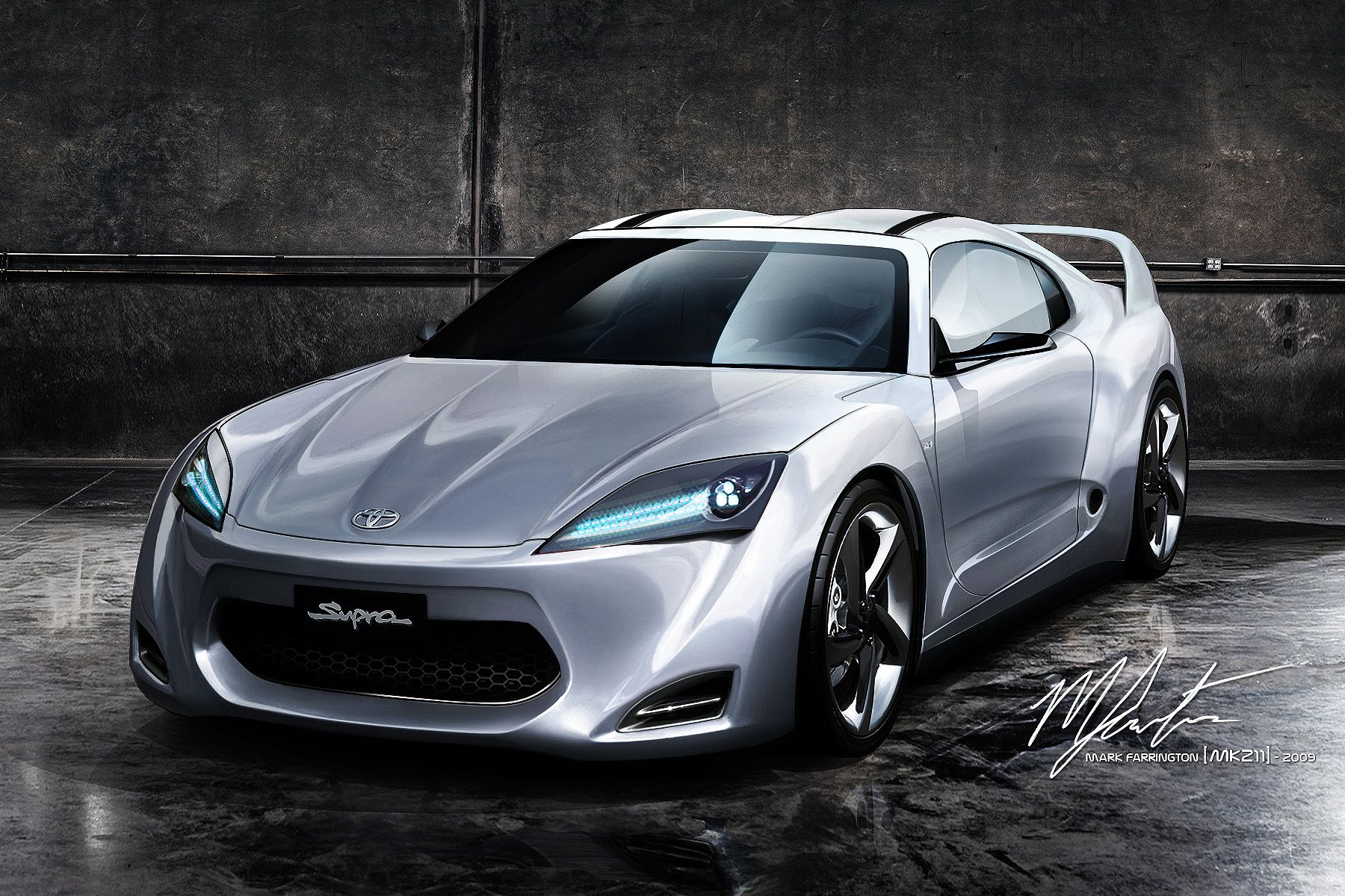 Toyota Supra Concept With Images Toyota Concept Car Toyota