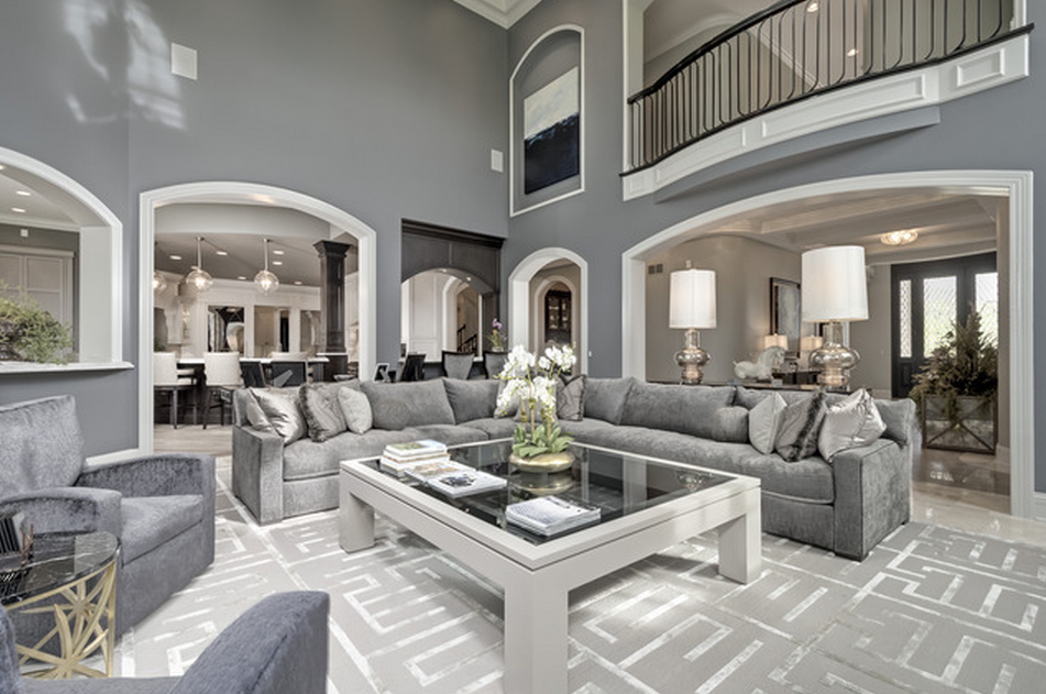 21 000 Square Foot Mansion In Naperville Il White Living Room