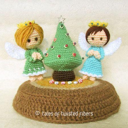 Free Patterns — Miniature Christmas Tree & Angels | Amigurumi ...