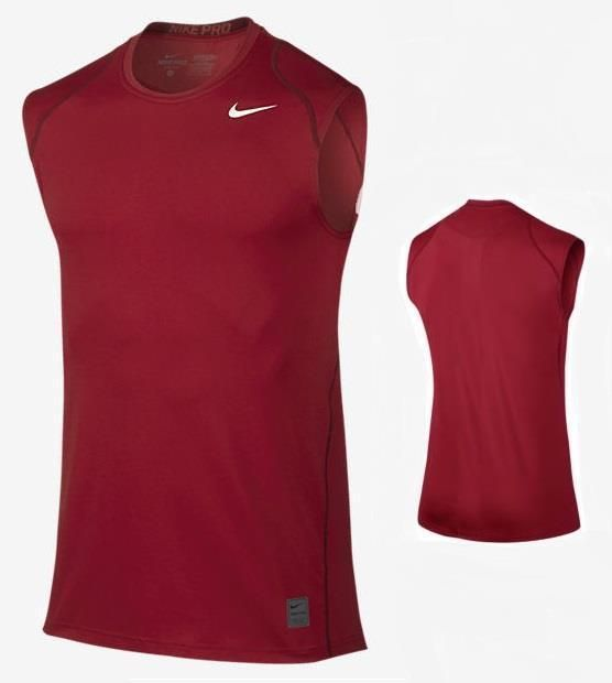 aff1938da Nike Mens Pro Cool Fitted Sleeveless DriFIT Red Training Tank SZ M 703102-687  #Nike #ShirtsTops