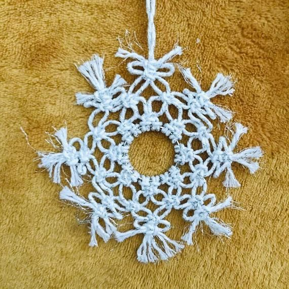 Sparkle Snowflake Tree Hanger #hangersnowflake
