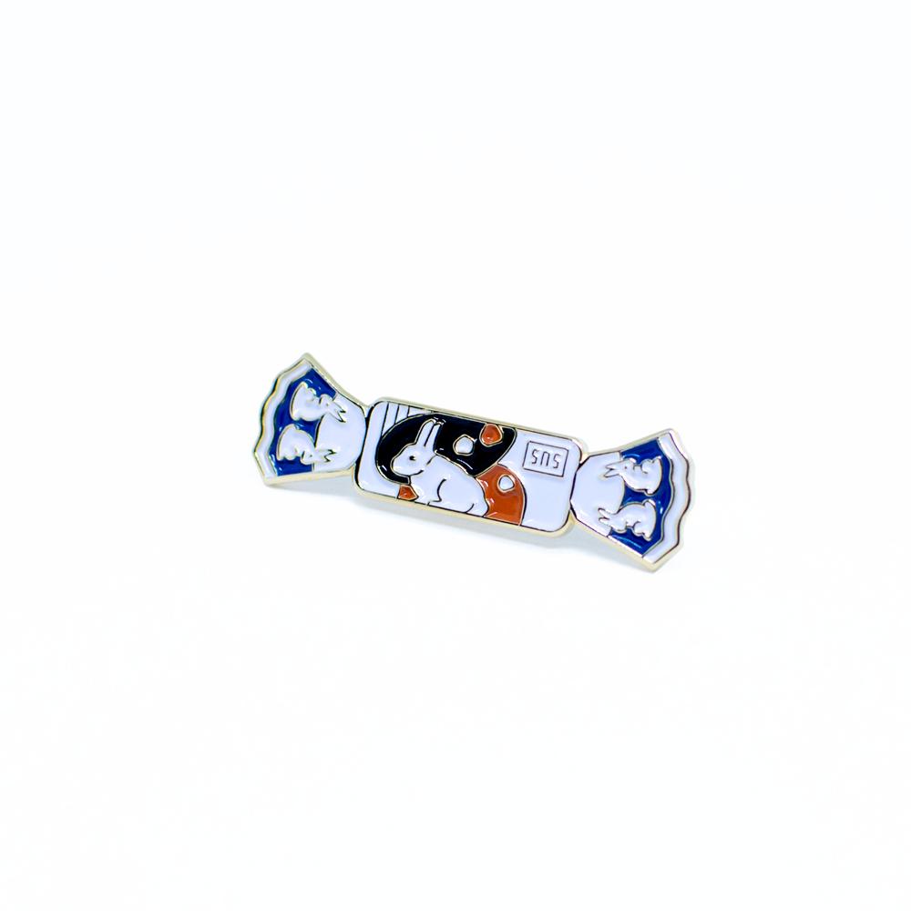 White Rabbit Enamel Pin Enamel Pins Soft Enamel Pins Pin