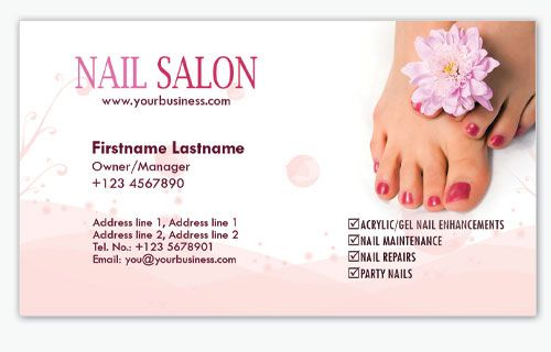 4 nail salon business card templates proyectos que intentar 4 nail salon business card templates colourmoves
