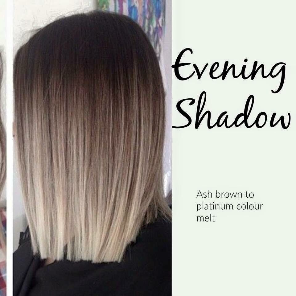 Evening shadow hair coloe
