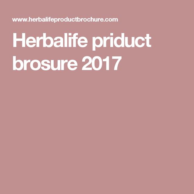 Herbalife priduct brosure 2017