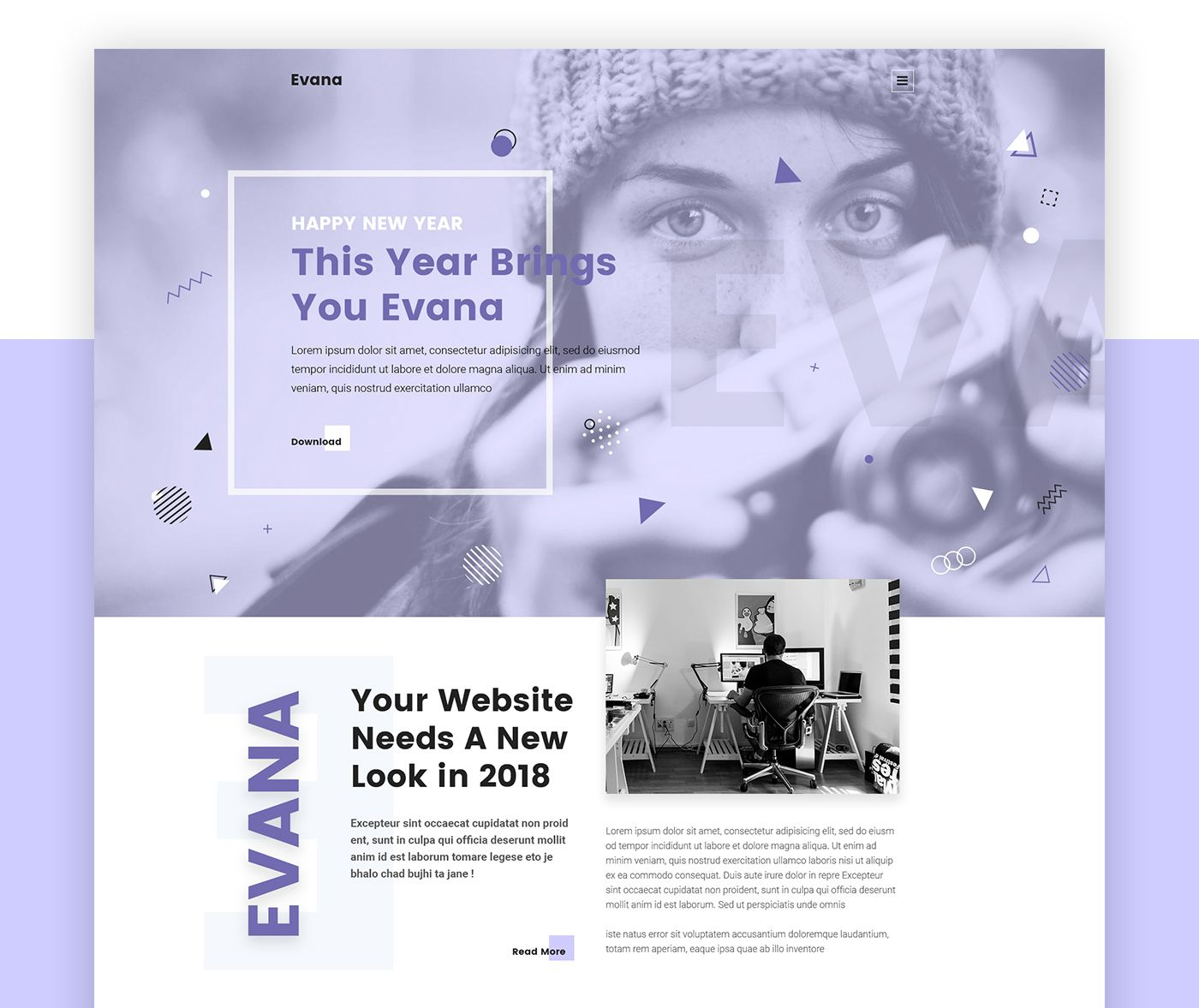 Evana Free Creative Agency Website Template On Behance Psd Poster Template Psd Template Free Creative Agency Website