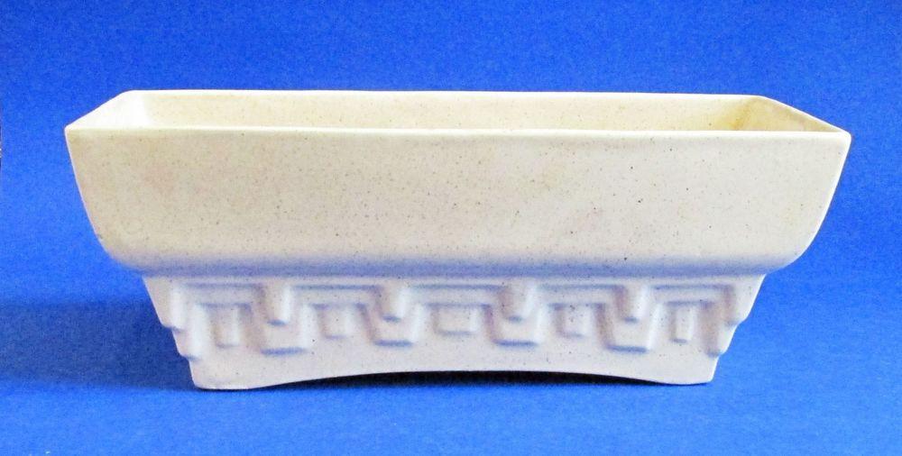 Vintage Art Deco/MCM Style Royal Haeger Beige Rectangular Box Pottery Planter