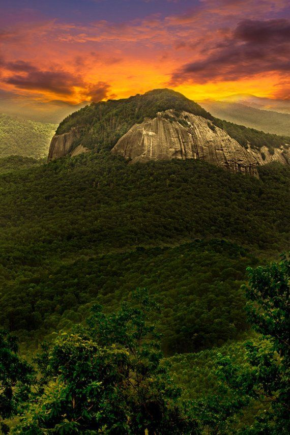 Looking Glass Rock * North Carolina MOUNTAIN LANDSCAPE * Photography on CANVAS Blue Ridge Parkway Sc