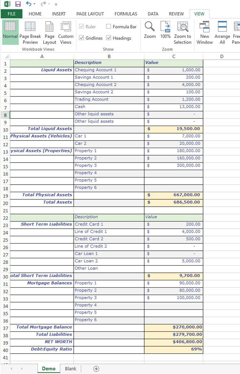 Balance Sheet Assets And Liabilities Excel Spreadsheet For Etsy In 2021 Balance Sheet Excel Spreadsheets Templates Accounting Basics Monthly balance sheet excel template
