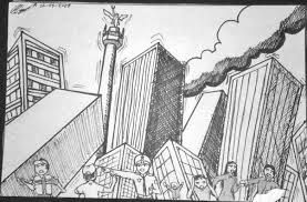 Resultado De Imagen Para Terremoto Dibujo Dibujos De Terremotos Desastres Naturales Dibujos Desastres Naturales