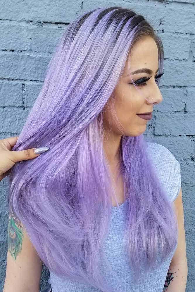 light purple hair tones