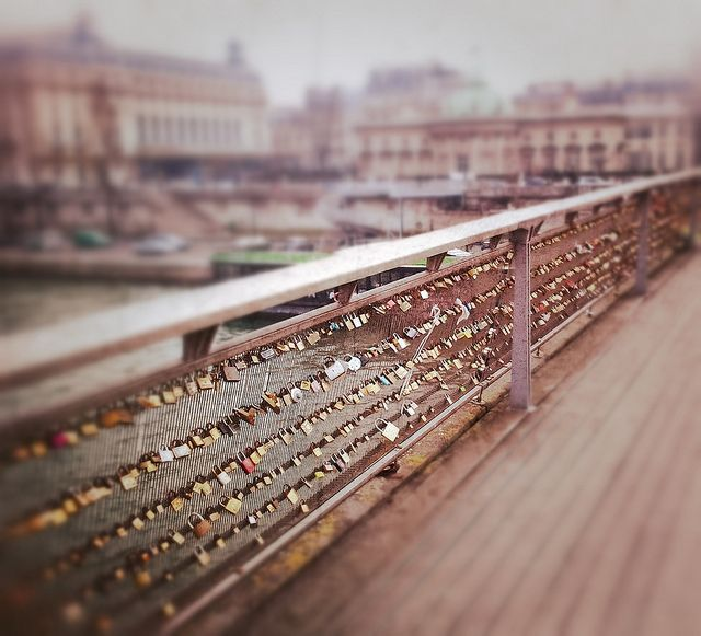 Love closed with a padlock