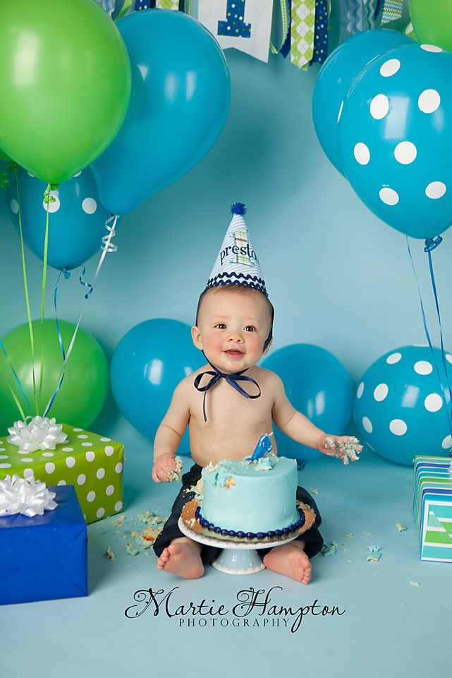 Preston Is One With Images 1st Birthday Pictures 1st Boy
