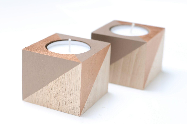 Teelicht Teelichthalter Kerze Kerzenstnder Stern Holz Buchenholz Buche Tischdekoration Dekoration Wohndekor Wohnzimmer Tisch Kerzenlicht Von Filzdesign